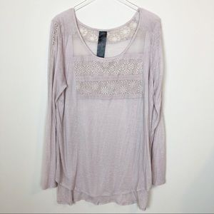Free people long sleeve Embroidered tunic
